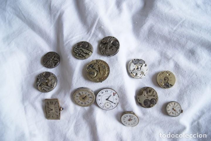 Recambios de relojes: LOTE DE CALIBRES O MAQUINAS RELOJ BOLSILLO Y PULSERA ANTIGUOS AÑOS 1880-1950 R6 - Foto 2 - 202767916