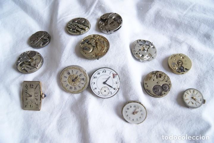Recambios de relojes: LOTE DE CALIBRES O MAQUINAS RELOJ BOLSILLO Y PULSERA ANTIGUOS AÑOS 1880-1950 R6 - Foto 3 - 202767916