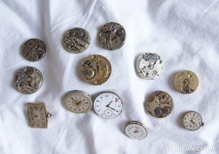 Recambios de relojes: LOTE DE CALIBRES O MAQUINAS RELOJ BOLSILLO Y PULSERA ANTIGUOS AÑOS 1880-1950 R6 - Foto 4 - 202767916