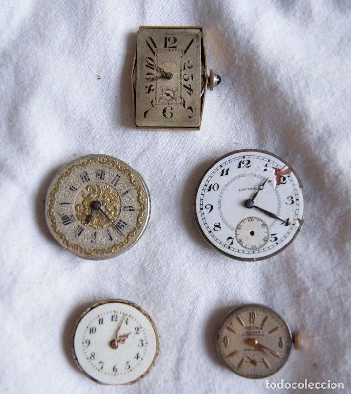 Recambios de relojes: LOTE DE CALIBRES O MAQUINAS RELOJ BOLSILLO Y PULSERA ANTIGUOS AÑOS 1880-1950 R6 - Foto 5 - 202767916