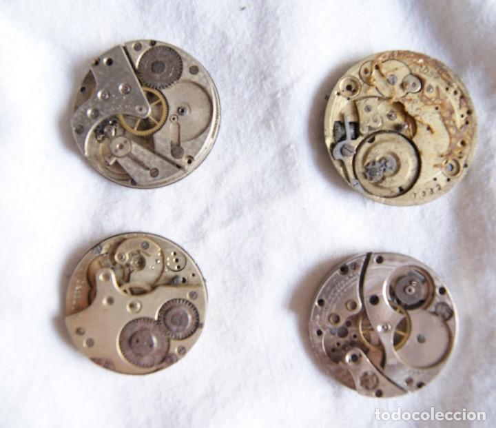Recambios de relojes: LOTE DE CALIBRES O MAQUINAS RELOJ BOLSILLO Y PULSERA ANTIGUOS AÑOS 1880-1950 R6 - Foto 6 - 202767916