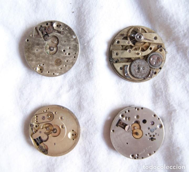 Recambios de relojes: LOTE DE CALIBRES O MAQUINAS RELOJ BOLSILLO Y PULSERA ANTIGUOS AÑOS 1880-1950 R6 - Foto 7 - 202767916