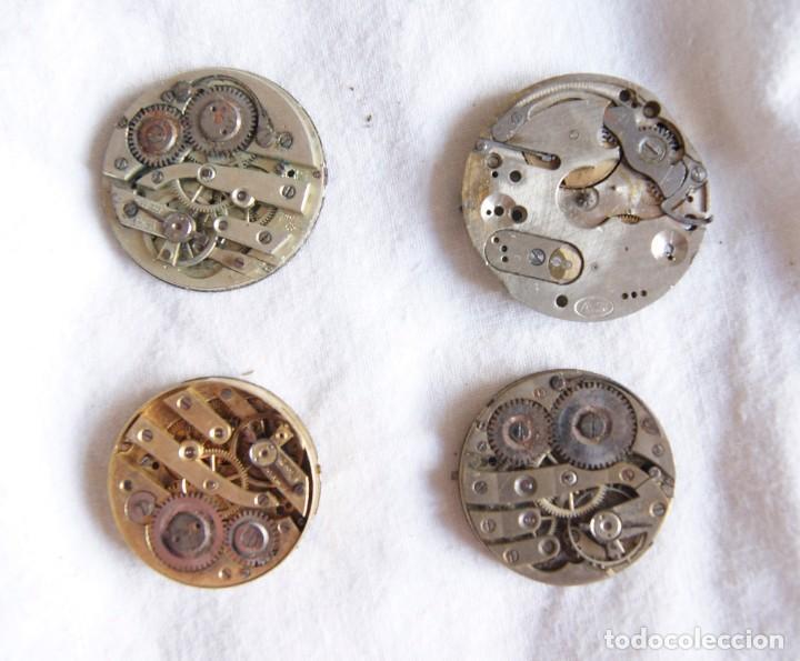Recambios de relojes: LOTE DE CALIBRES O MAQUINAS RELOJ BOLSILLO Y PULSERA ANTIGUOS AÑOS 1880-1950 R6 - Foto 8 - 202767916