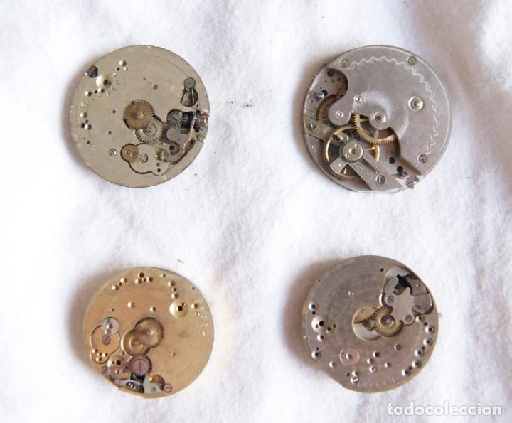 Recambios de relojes: LOTE DE CALIBRES O MAQUINAS RELOJ BOLSILLO Y PULSERA ANTIGUOS AÑOS 1880-1950 R6 - Foto 9 - 202767916
