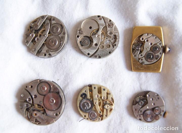 Recambios de relojes: LOTE DE CALIBRES O MAQUINAS RELOJ BOLSILLO Y PULSERA ANTIGUOS AÑOS 1880-1950 R6 - Foto 10 - 202767916