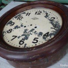 Recambios de relojes: RELOJ PARED DUWARD -UNION POSIBLEMENTE DE ESTACION FERROCARIL A RESTAURAR. Lote 204642271