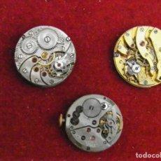 Recambios de relojes: LOTE 3 MECANISMOS RELOJ LONGINES CYMA. Lote 205590695
