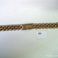 Recambios de relojes: PULSERA CADENA PARA RELOJ CHAPADO EN ORO 15X1CMS.. Lote 205867437