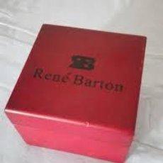 Recambios de relojes: CAJA DE MADERA DE RELOJ RENÉ BARTON,ROJA. Lote 206513716