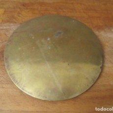 Recambios de relojes: ANTIGUA LENTEJA PARA PENDULO TIJERA RELOJ MOREZ DE PESAS AÑO 1860- 16 CM DIAMETRO- LOTE 233. Lote 206783870