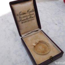 Recambios de relojes: CAJA O ESTUCHE PARA RELOJ DE BOLSILLO JAIME TRILLA BARCELONA. Lote 207192890