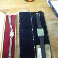 Ricambi di orologi: 2 RELOJES DE PULSERA- UNO ZENTRA ANTIGUO 1920 EN ORO DE 20 MICRONES- OTRO CASI A ESTRENAR- LOTE 245. Lote 208663728