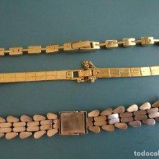 Recambios de relojes: TRES PULSERAS AÑOS 50 APROX, PARA RELOJ DE SEÑORA-. Lote 209960116