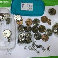 Pièces de rechange de montres et horloges: LOTE DE MAQUINAS DE RELOJES CAUNY Y OTRAS MARCAS, PARA REPUESTOS, UT6310, 620, Y OTRAS, VOLANTES, ET. Lote 209962010