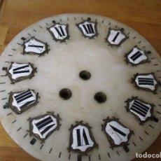 Recambios de relojes: ANTIGUA ESFERA ALABASTRO PARA MAQUINARIA PARIS OJO DE BUEY- NUMEROS PORCELANA-BUEN ESTADO- LOTE 288. Lote 211265602