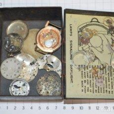 Recambios de relojes: ANTIGUO - VINTAGE - CAJA CON DE PIEZAS / ACCESORIOS - DESGUACE VARIADOS RELOJES - ¡MIRA! LOTE 05. Lote 211474149