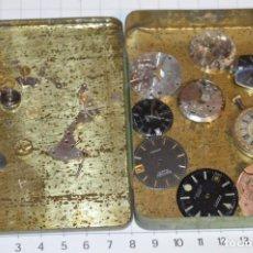 Recambios de relojes: ANTIGUO - VINTAGE - CAJA CON DE PIEZAS / ACCESORIOS - DESGUACE VARIADOS RELOJES - ¡MIRA! LOTE 06. Lote 211474955