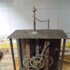 Recambios de relojes: ANTIGUA MAQUINARIA MOREZ DE PESAS - PARA RESTAURAR O PIEZAS- AÑO 1870- LOTE 287. Lote 211513452