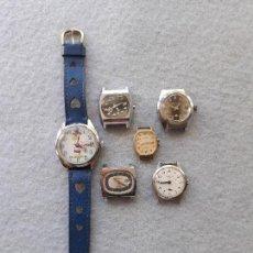 Recambios de relojes: LOTE DE 6 RELOJES MECÁNICOS PARA DAMA. Lote 212251088