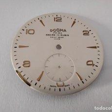Ricambi di orologi: ESPECTACULAR ESFERA RELOJ DE CUERDA DOGMA PRIMA 15 RUBIS NUEVA. Lote 212792601