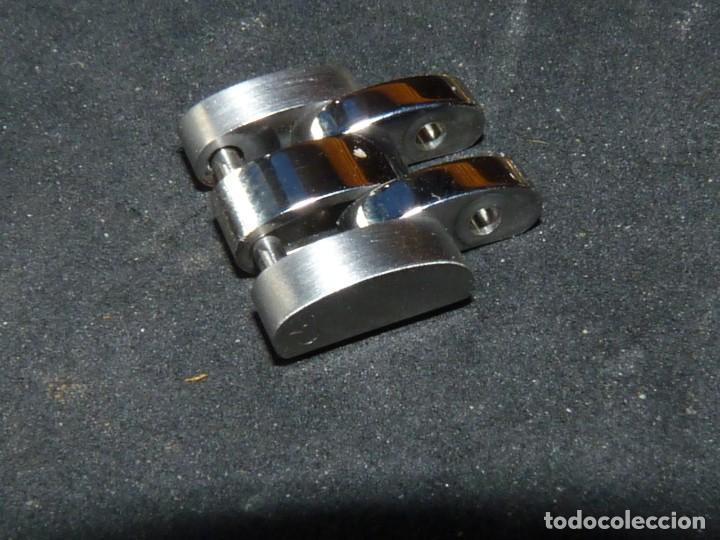 Recambios de relojes: Eslabón acero rolex armis oyster original 15,5 mms - Foto 2 - 212898835