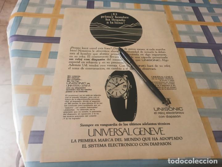 RELOJ UNIVERSAL GENEVE UNISONIC ANUNCIO PUBLICIDAD REVISTA 1969 POSIBLE RECOGIDA EN MALLORCA (Relojes - Recambios)