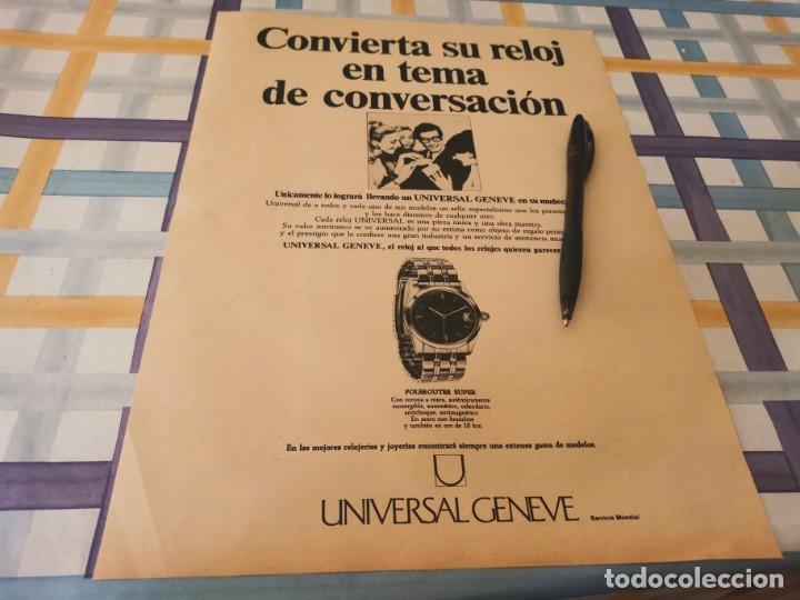 RELOJ UNIVERSAL GENEVE PELEROUTER SUPER ANUNCIO PUBLICIDAD REVISTA 1968 (Relojes - Recambios)