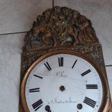 Recambios de relojes: CARATULA Y ESFERA DE RELOJ MOREZ, LA HUIDA A EGIPTO DE LA SAGRADA FAMILIA. Lote 213457572