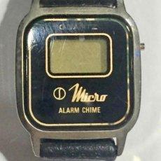 Recambios de relojes: VINTAGE RELOJ DE MUJER MARCA MICRO,20 M/M. QUARTZ/DIGITAL . PULSERA NUEVA. Lote 145830966