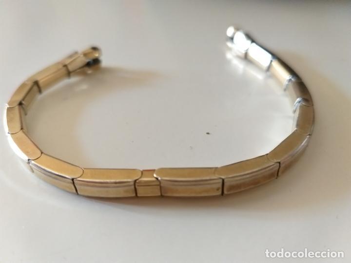 Recambios de relojes: Pulsera para reloj, elastica. Letras grabadas: telescope, Pat A, Double. Dorada - Foto 3 - 214674222