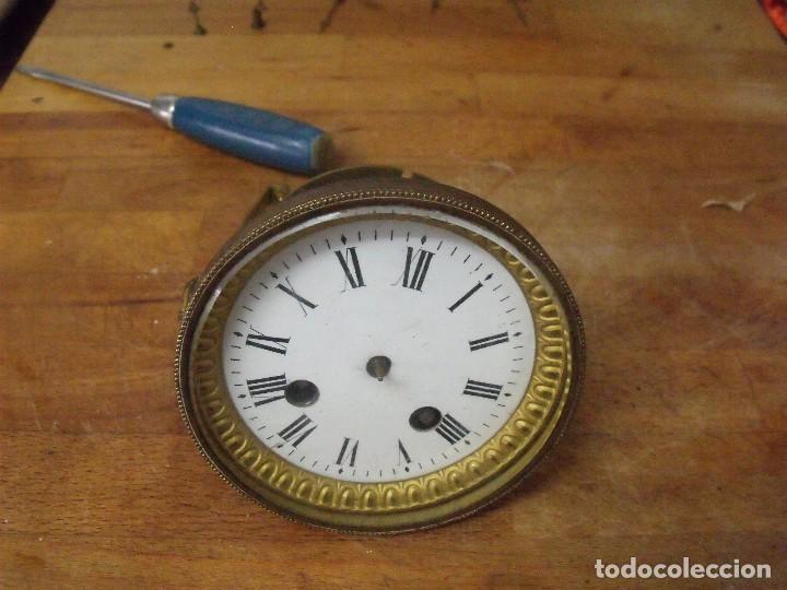 ANTIGUA MAQUINARIA PARIS PARA RELOJ SOBREMESA-AÑO 1870- PARA RESTAURAR O PIEZAS- LOTE 300 (Relojes - Recambios)