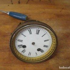 Recambios de relojes: ANTIGUA MAQUINARIA PARIS PARA RELOJ SOBREMESA-AÑO 1870- PARA RESTAURAR O PIEZAS- LOTE 300. Lote 214991583