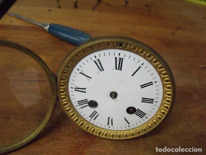 Recambios de relojes: Antigua maquinaria Paris para reloj sobremesa-año 1870- para restaurar o piezas- lote 300 - Foto 3 - 214991583