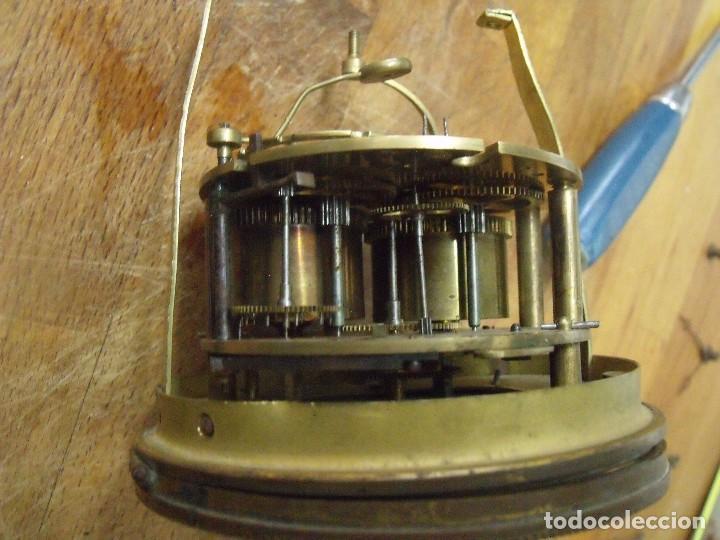 Recambios de relojes: Antigua maquinaria Paris para reloj sobremesa-año 1870- para restaurar o piezas- lote 300 - Foto 6 - 214991583