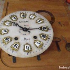 Recambios de relojes: ANTIGUA MAQUINARIA MOREZ DE OJO BUEY- COMPLETA Y FUNCIONAL - AÑO 1880-ESFERA ALABASTRO-LOTE 305. Lote 218722551