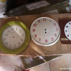 Recambios de relojes: 3 ESFERAS RELOJES ANTIGUOS LOTE 310. Lote 219878291