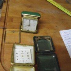 Recambios de relojes: UN DESPERTADOR ANTIGUO DE PETACA Y 2 PETACAS- LOTE 310. Lote 219892842