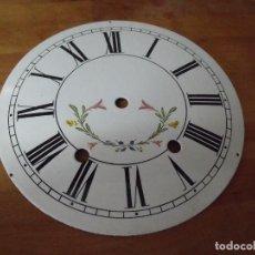 Recambios de relojes: ESFERA DE PORCELANA PARA RELOJ MOREZ DE PESAS- LOTE 5. Lote 220266347