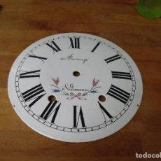 Recambios de relojes: ESFERA DE PORCELANA PARA RELOJ MOREZ DE PESAS- LOTE 5. Lote 220266421