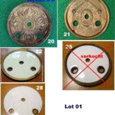 Recambios de relojes: LOTE 01 MEZCLA DE 4 DISCOS MEDIOS DE PLACA ESFERA. Lote 220859287
