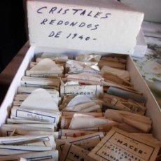 Recambios de relojes: ESTUCHE CON VARIOS CRISTALES PARA RELOJES DE LOS AÑOS 40. Lote 220995813