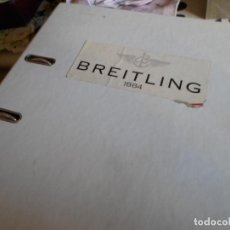 Recambios de relojes: MAGNIFICO ALBUM DE DESPIEZE RELOJERIA BREITLING. Lote 221313773