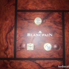 Recambios de relojes: BLANCPAIN: CAJA CON 3 CALIBRES ORIGINALES NUEVOS E IMPECABLES. Lote 222348808