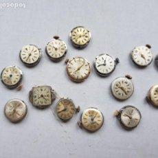 Pièces de rechange de montres et horloges: LOTE DE 15 CALIBRES DE DAMA MECANICOS DUWARD FESTINA CYMA ... A18. Lote 222454828