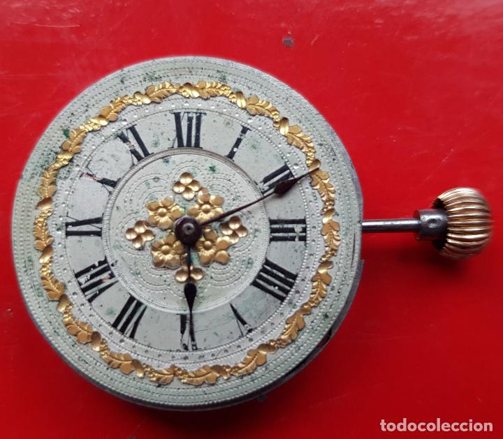 CALIBRE + ESFERA PROCEDENTE RELOJ ORO PARA SABONETA 30MM (Relojes - Recambios)