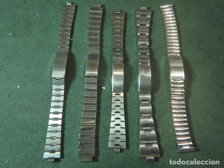 Recambios de relojes: Lote 5 armis correas reloj - Foto 2 - 222764658