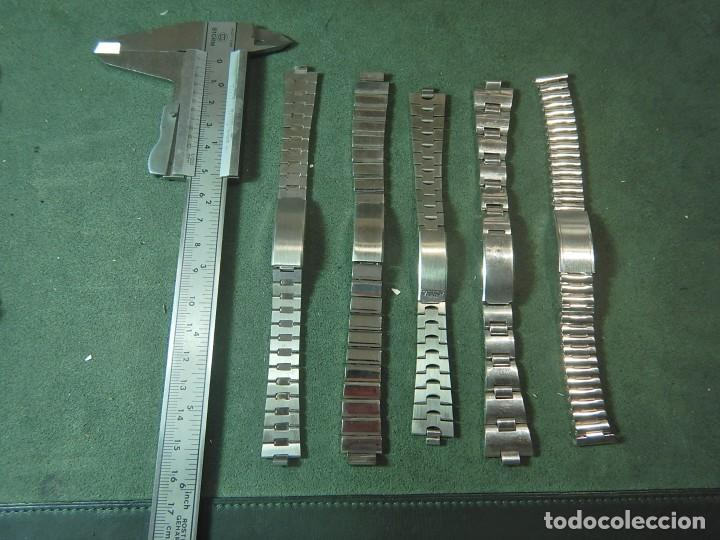 LOTE 5 ARMIS CORREAS RELOJ (Relojes - Recambios)