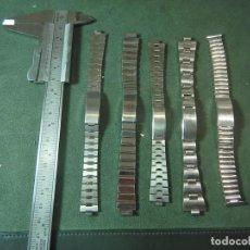 Recambios de relojes: LOTE 5 ARMIS CORREAS RELOJ. Lote 222764658