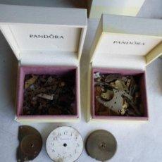 Recambios de relojes: 2 ESTUCHES CON SURTIDO DE PIEZAS DE RELOJERIA. Lote 222843236