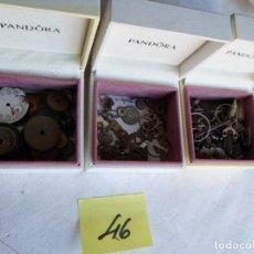 Recambios de relojes: 3 ESTUCHES CON SURTIDO DE PIEZAS DE RELOJERIA. Lote 222843577
